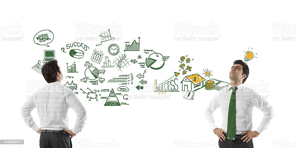 Young man with ideas royalty-free stock photo