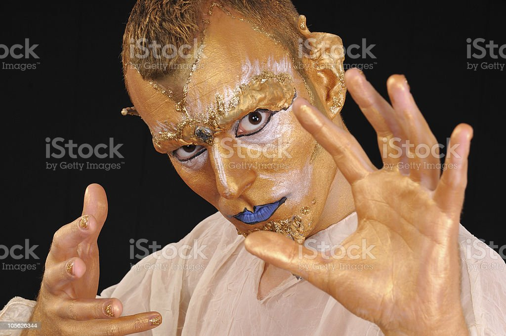Young man with mask royalty-free stock photo