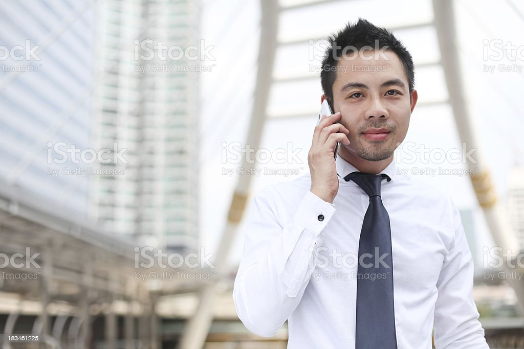 Young Man with mobile phone royalty-free stock photo