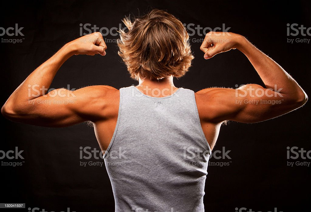 Young Man With Muscular Build royalty-free stock photo