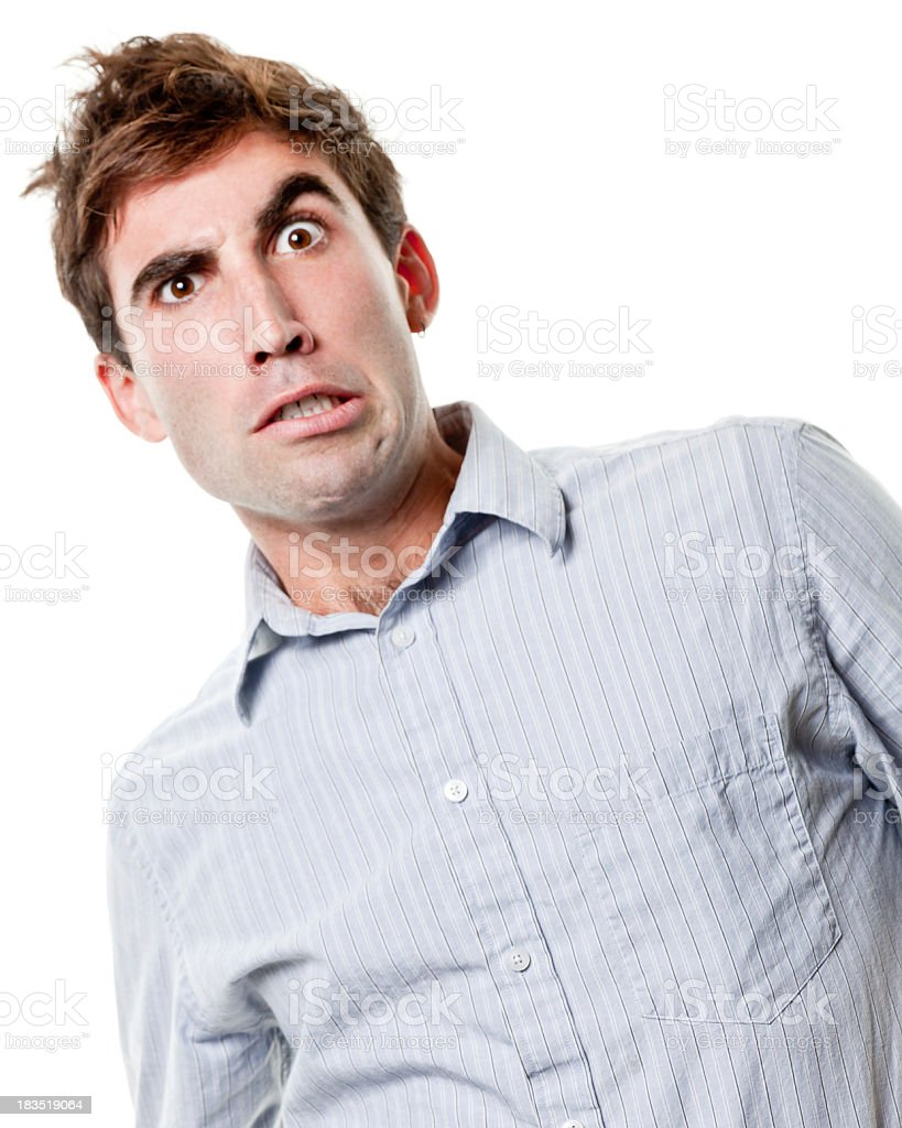 Young Man With Odd Facial Expression royalty-free stock photo