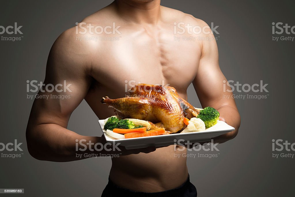 Young man with perfect body stock photo