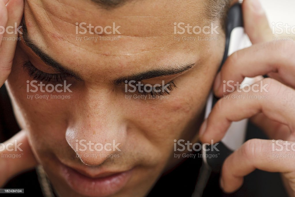 Young Man With Smart Phone royalty-free stock photo