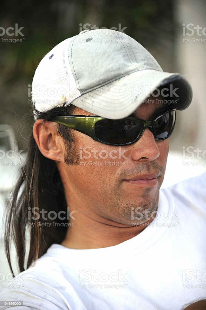 Young man with sunglasses royalty-free stock photo