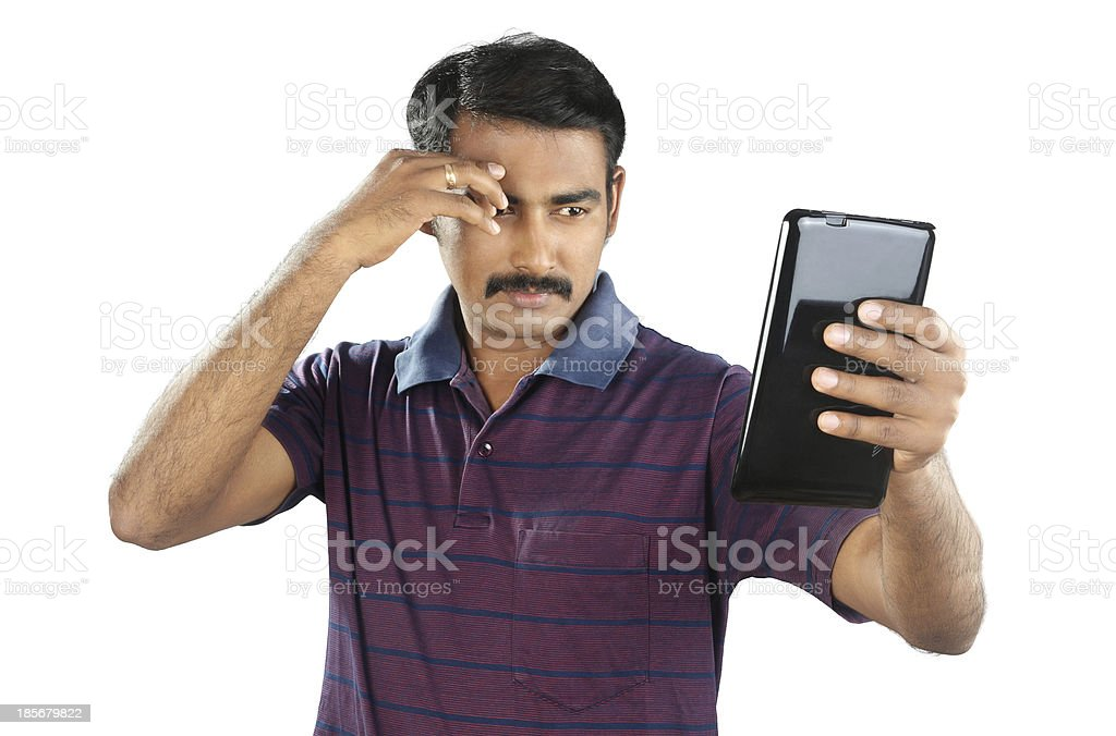 Young Man with Tablet royalty-free stock photo