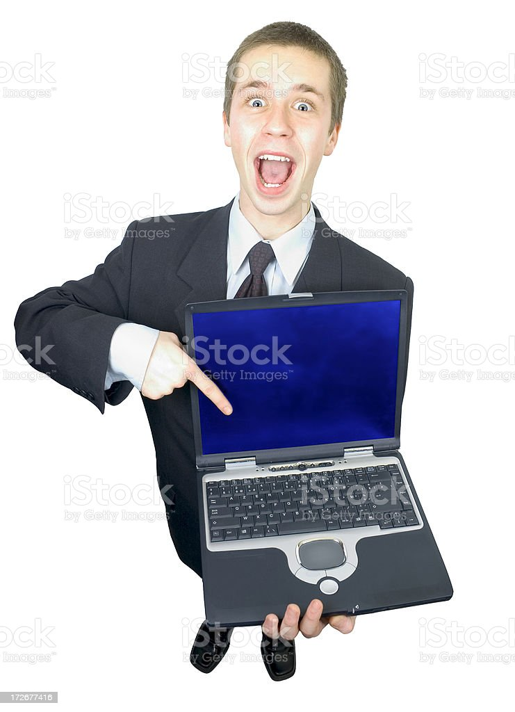 Young Man witl PC Laptop royalty-free stock photo