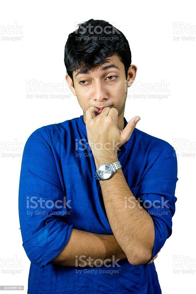 Young man worried stock photo