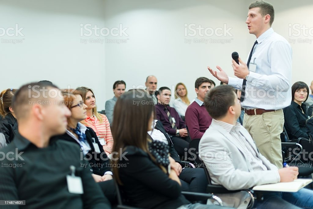Young Manager at the business seminar royalty-free stock photo