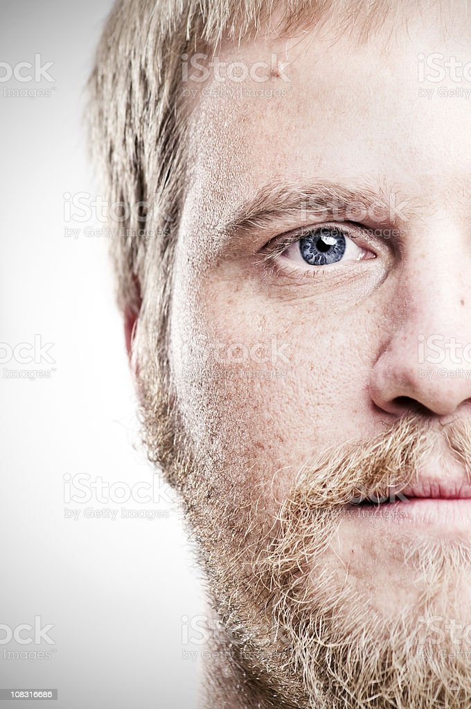 young man's half face royalty-free stock photo
