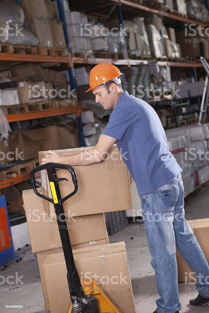 Young Manual Worker stock photo
