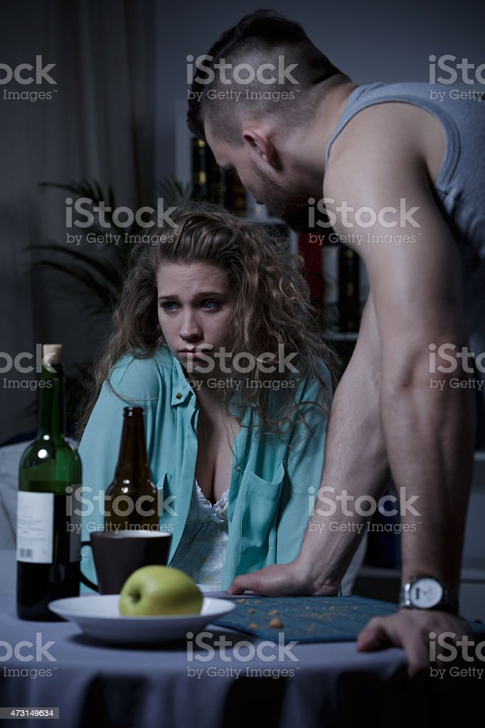 Young marriage with problems stock photo