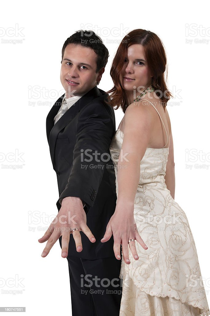 Young Married Couple Dancing royalty-free stock photo
