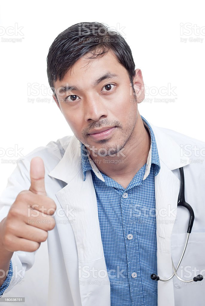 Young Medical Doctor Giving Thumbs Up royalty-free stock photo