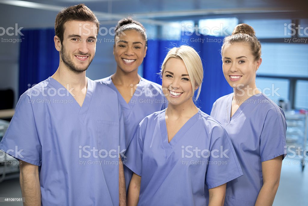 young medical students stock photo