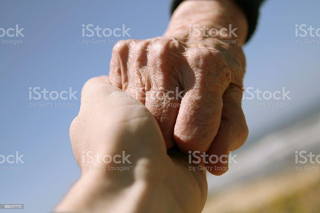 Young Meets Old royalty-free stock photo