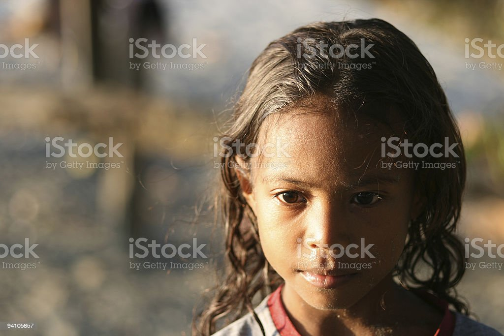 Young Melanesian girl. royalty-free stock photo