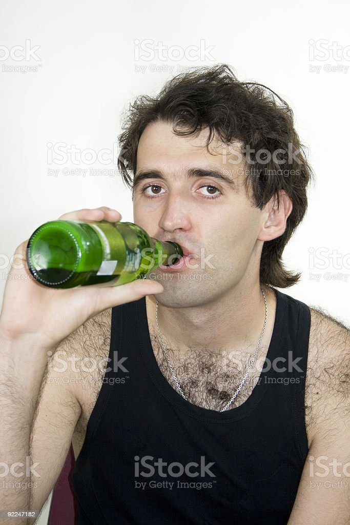 Young men and Beer royalty-free stock photo
