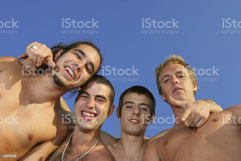 Young men having fun royalty-free stock photo
