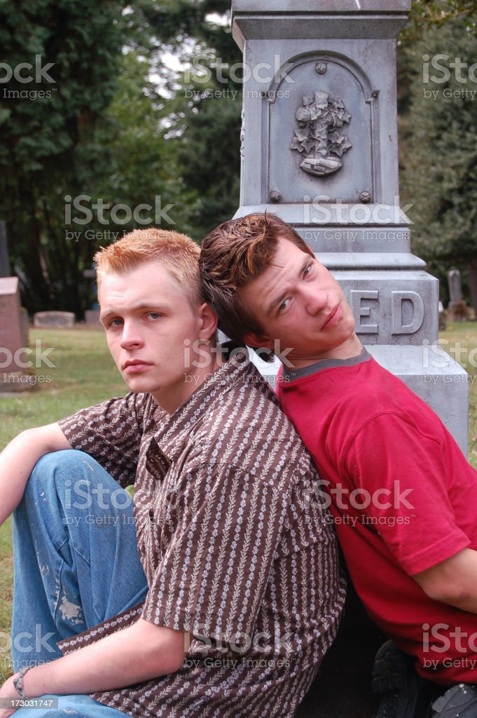 Young Men stock photo