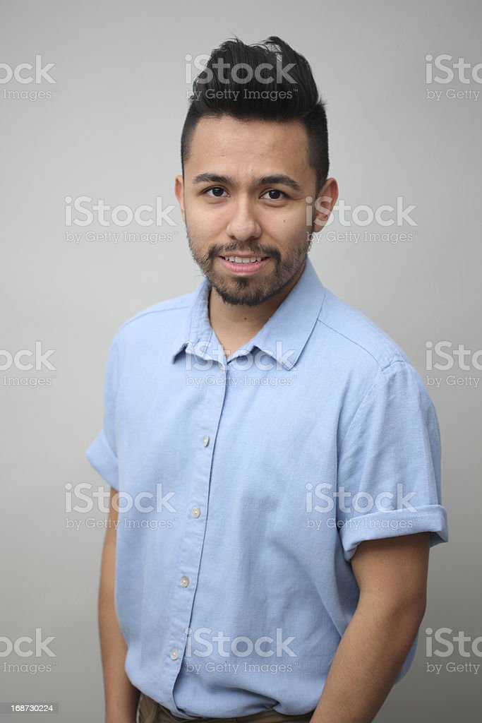 Young Mexican Male Studio Portrait royalty-free stock photo
