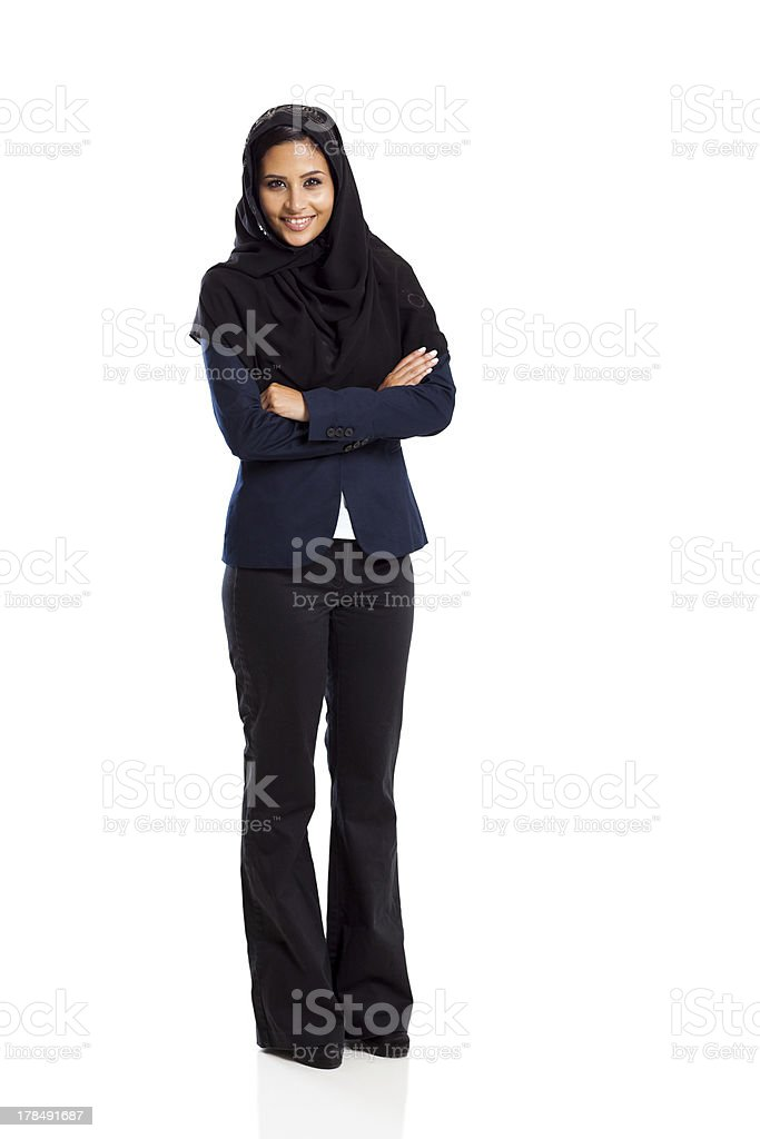 young middle eastern businesswoman stock photo
