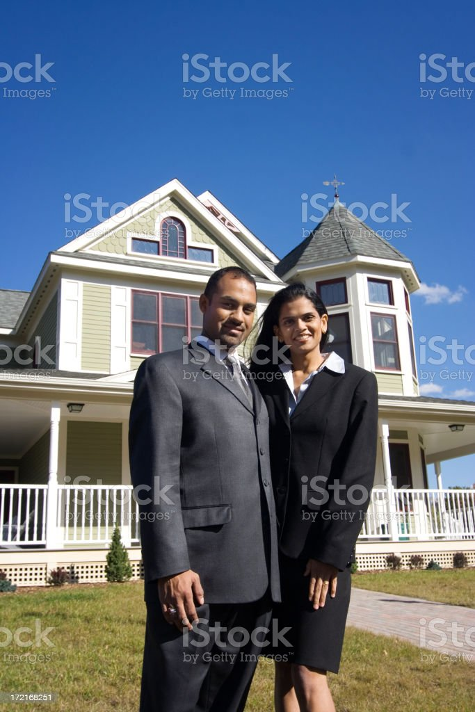 Young middle eastern couple royalty-free stock photo