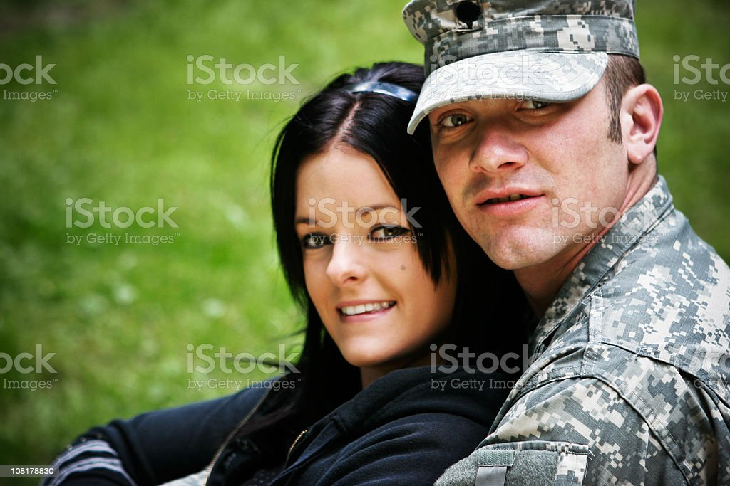Young Military Couple royalty-free stock photo