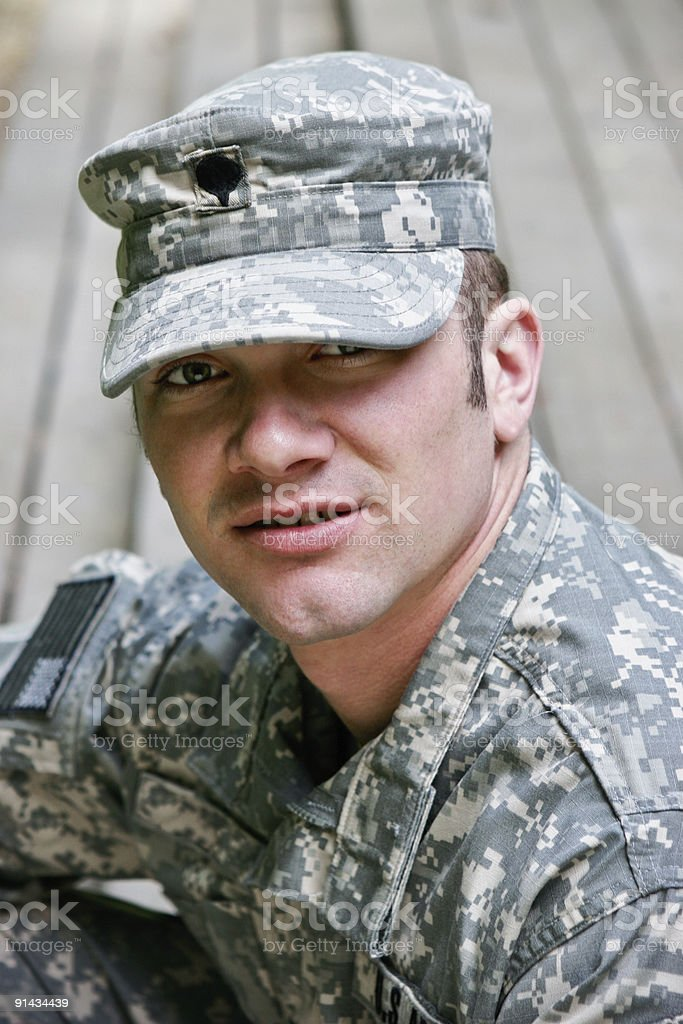 Young Military Man royalty-free stock photo