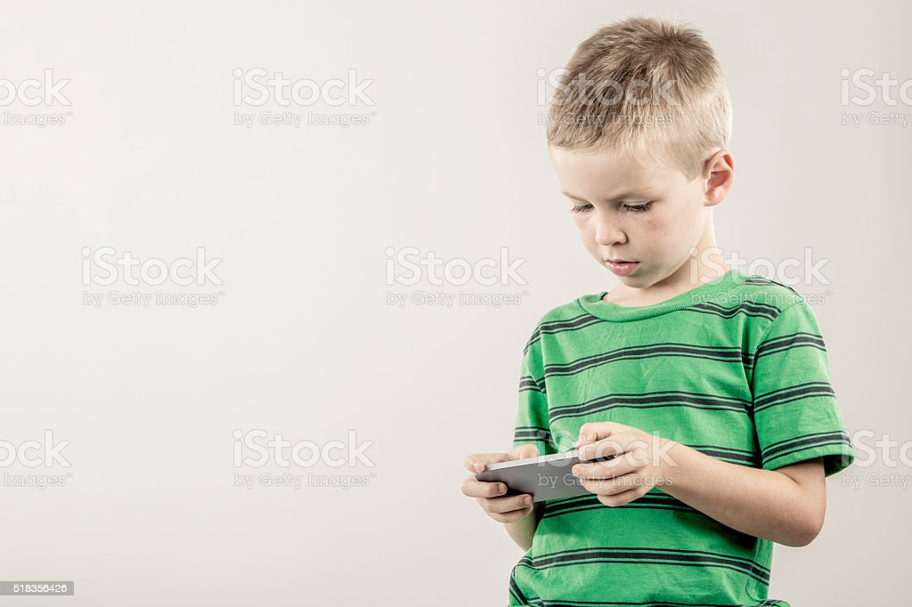 Young Mobile Device User stock photo