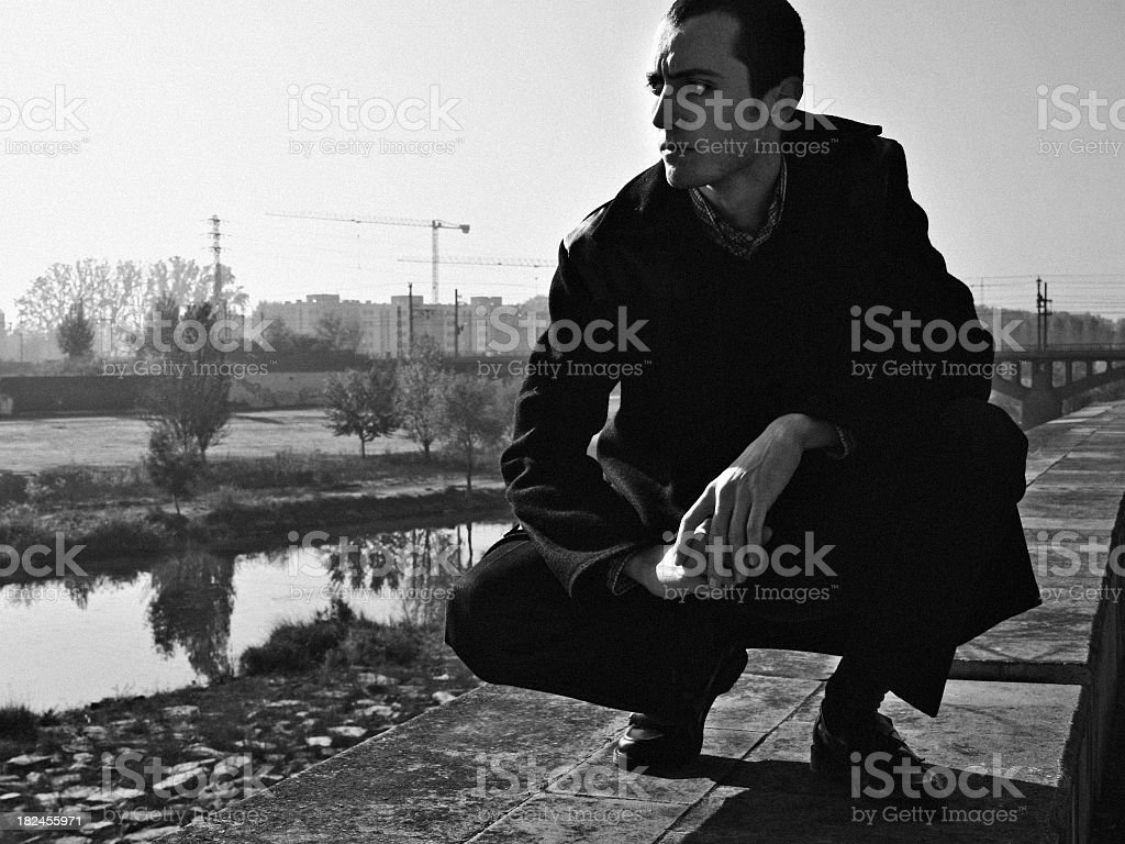 Young mod posing stock photo