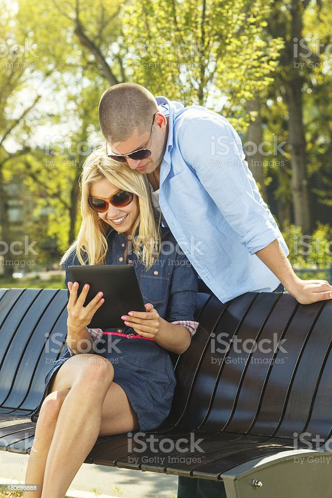 Young modern couple royalty-free stock photo