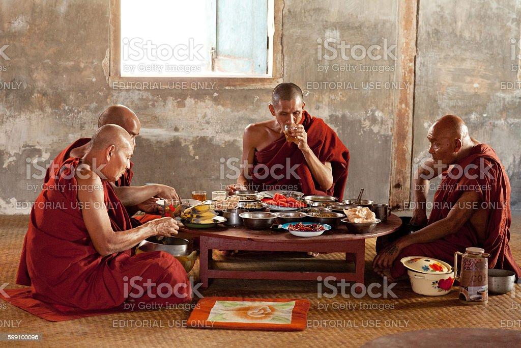 Young monks, Myanmar stock photo