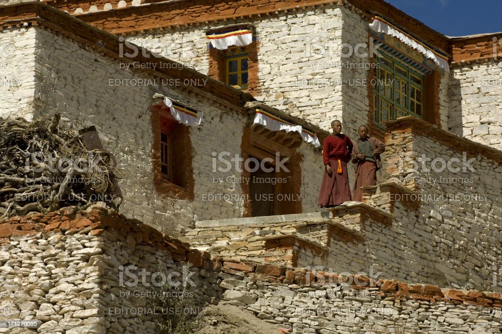 Young Monks stock photo