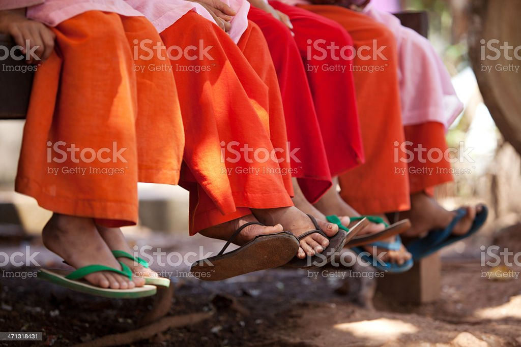 Young monks together royalty-free stock photo