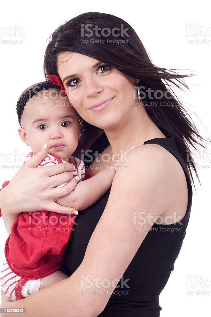 Young Mother and Baby Daughter royalty-free stock photo