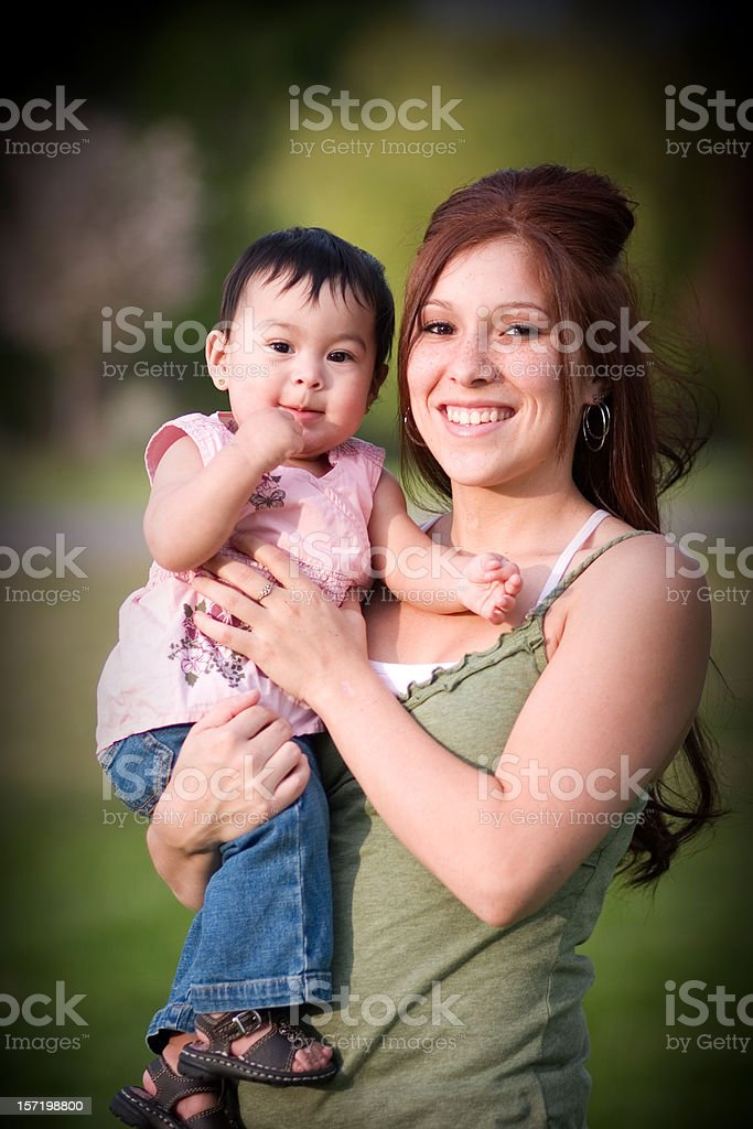 Young Mother and Baby royalty-free stock photo