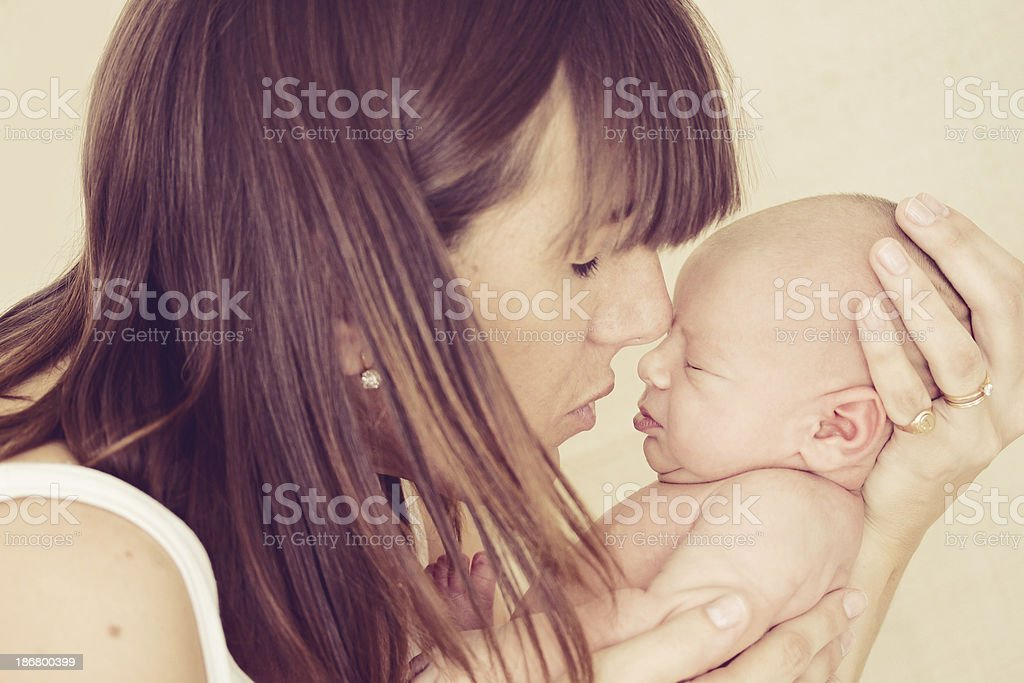 Young mother and new born baby royalty-free stock photo