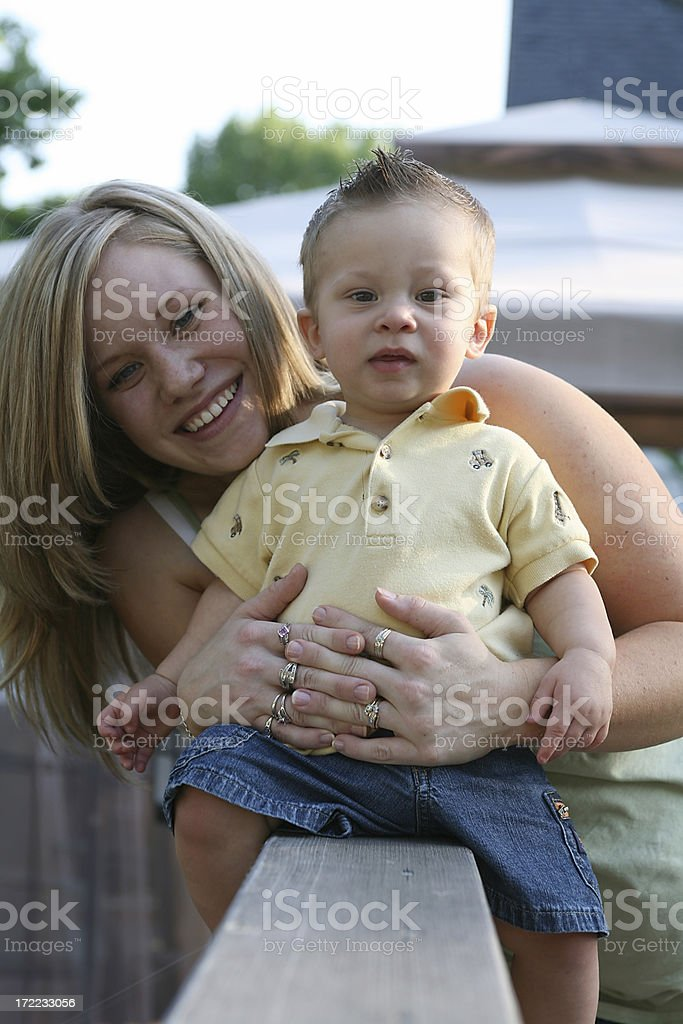 young mother and son royalty-free stock photo