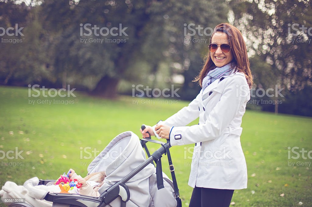 Young mother stock photo