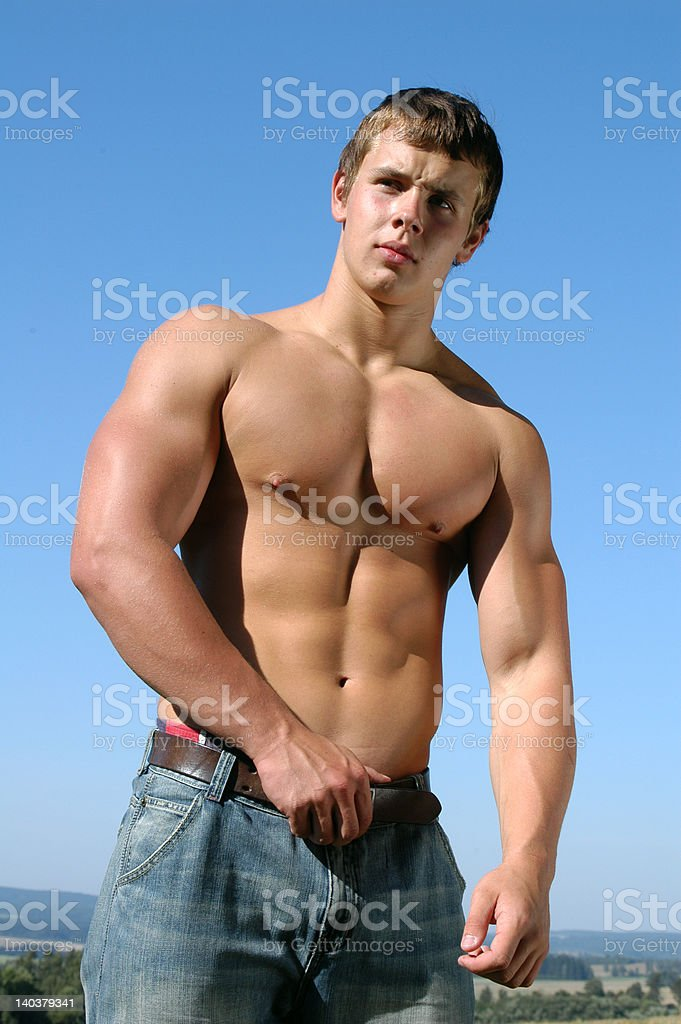 Young Muscular Athlete royalty-free stock photo