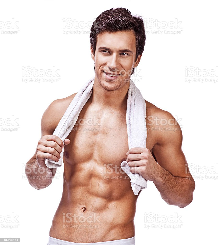 young muscular shirtless male royalty-free stock photo