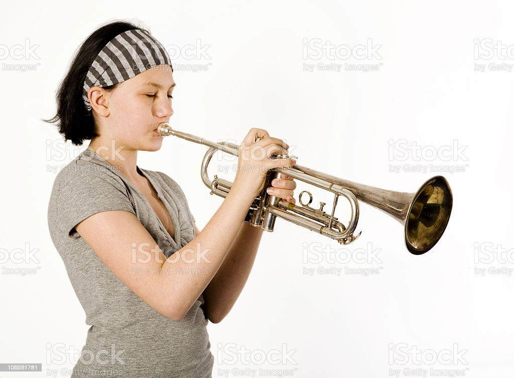 young musician serie royalty-free stock photo