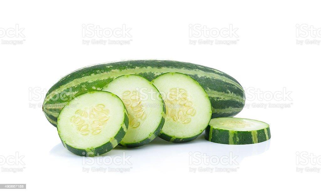 Młody Ogórek melon na białym tle zbiór zdjęć royalty-free