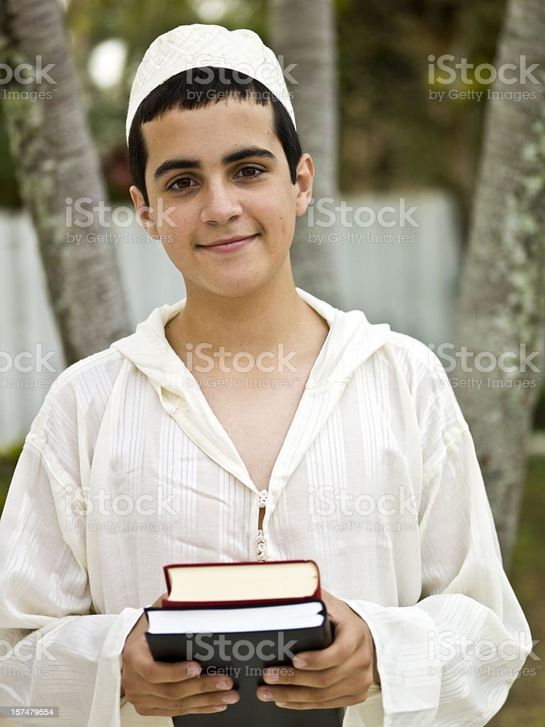 Young muslim student royalty-free stock photo