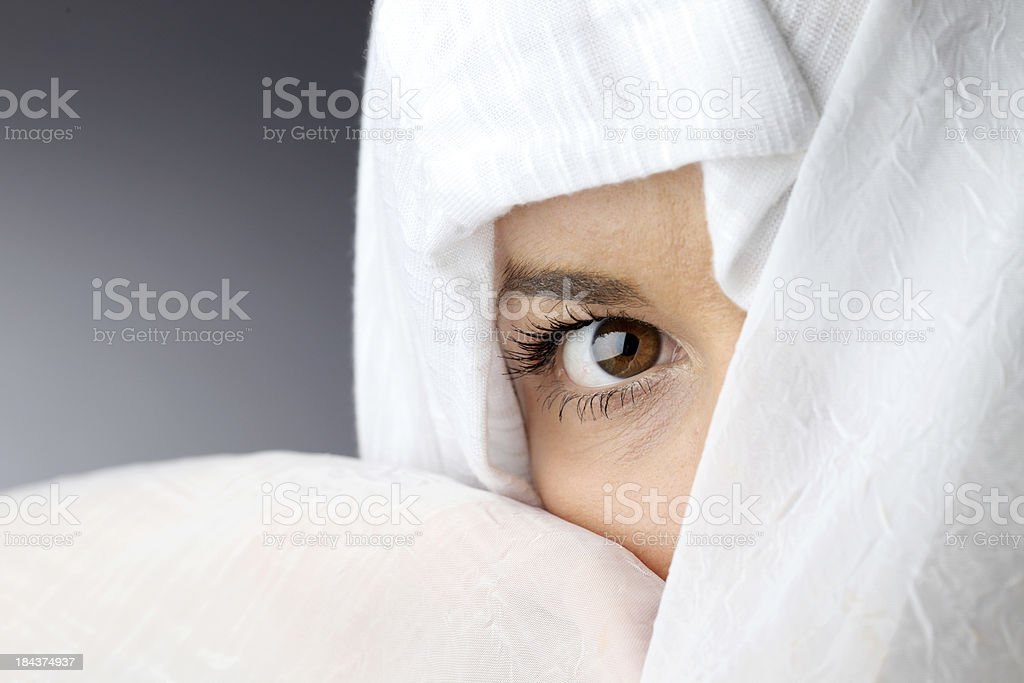 Young Muslim woman looking at the camera. royalty-free stock photo