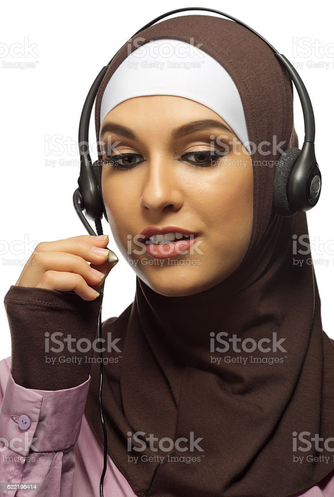 Young muslim woman stock photo