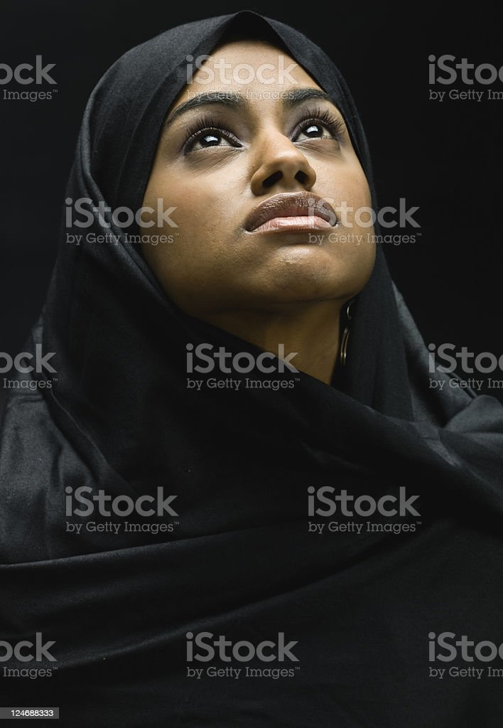 Young Muslim Woman Portrait stock photo