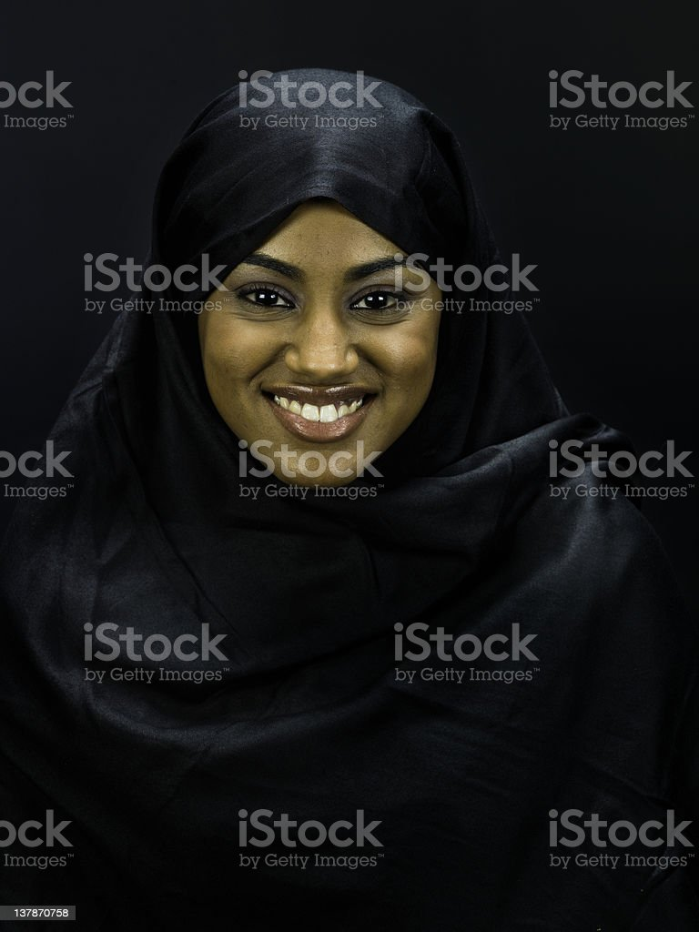 Young Muslim Woman Portrait stock photo