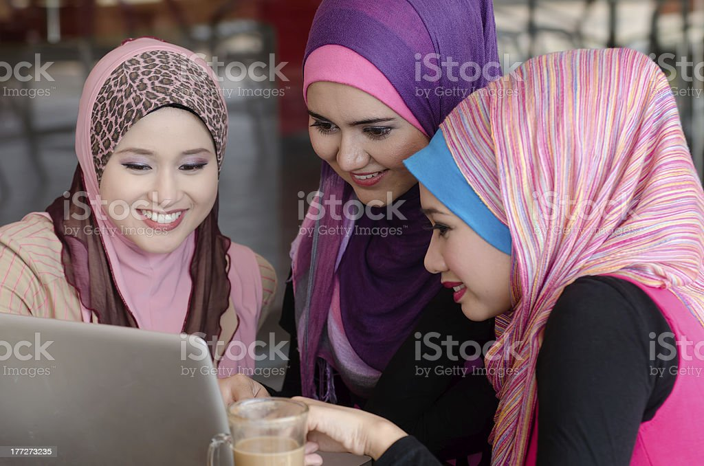 young muslimah royalty-free stock photo