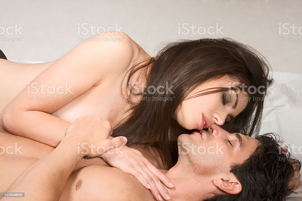 woman making Naked love and man